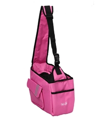 Pink Over-The-Shoulder Hands Travel Pet Carrier