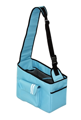 Blue Over-The-Shoulder Hands Travel Pet Carrier