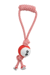 Pull Away Jute Rope And Tennis Tug Toy