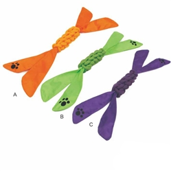 Extreme Twist' Squeak And Jute Rope Pet Dog Toy