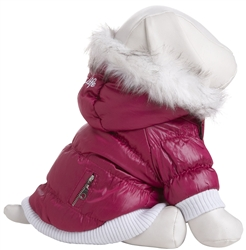 Pink  3M Thinsulate Metallic Dog Jacket