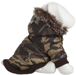 Camo 3M Thinsulate Metallic Dog Jacket