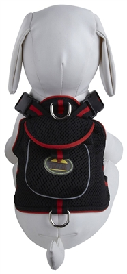 Mesh Pet Dog Leash Harness With  Built In Pouch