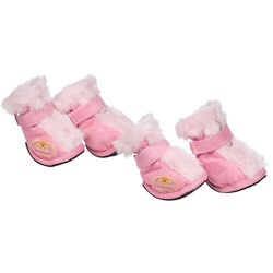 Pink Ultra Comfort 3M Thinsulate Dog Shoes