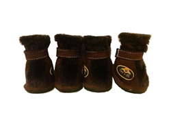Brown Ultra Comfort 3M Thinsulate Dog Shoes
