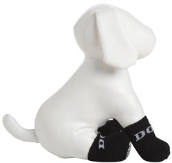 Black Rubberized Pet Socks