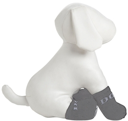 Grey  Rubberized Pet Socks