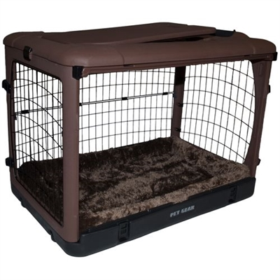 The Other Door Steel Crate With Pad - Chocolate