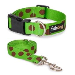 Green Polka Dot Collars & Leads