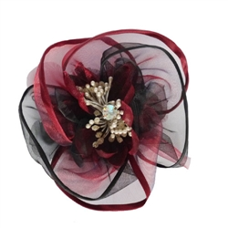 Harper Burgundy Collar Flower