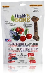 Health Bone Mixed Berry Formula All Natural - Small Bones 14 oz.   mfg temp disc