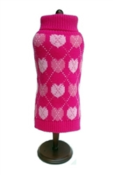 "Pink Argyle Hearts Sweater (Only 6""& 8"" Left)"