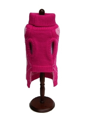 """Pink Argyle Hearts Sweater (Only 6"""" Left) Disc. & On Sale"""