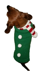 """Candy Cane Scarf Sweater SALE 50% off - just two 14"""" left"""