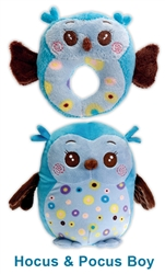 Hocus & Pocus TWO-FURRS - Baby Blue Boy Set of Owls