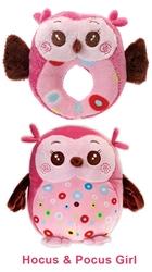 Hocus & Pocus TWO-FURRS - Precious Pink Girl Set of Owls