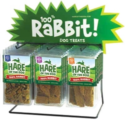 100% Rabbit Dog Jerky Treats from Hare of the Dog