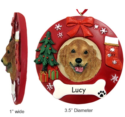 Circle Breed Christmas Ornament