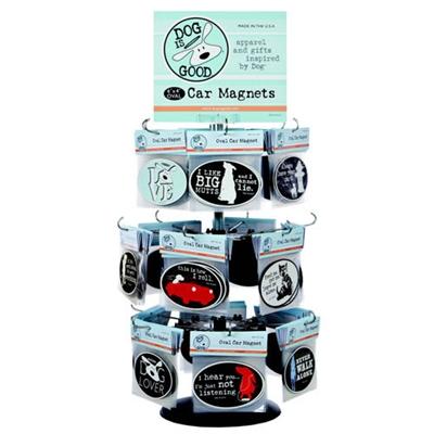 Oval Car Magnets Display Racks