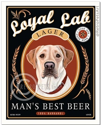 Loyal Lab Lager Man's Best Beer (Yellow Lab)