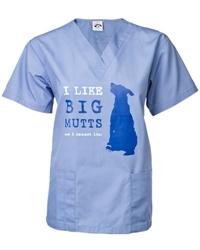 I Like Big Mutts Scrub Top