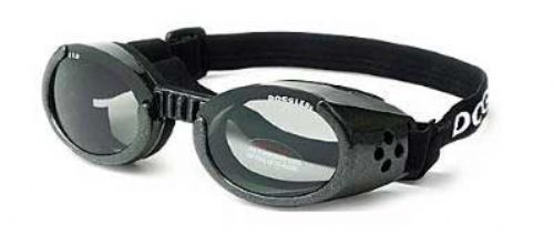 Metallic Black ILS Doggles Blue Mirror Lens