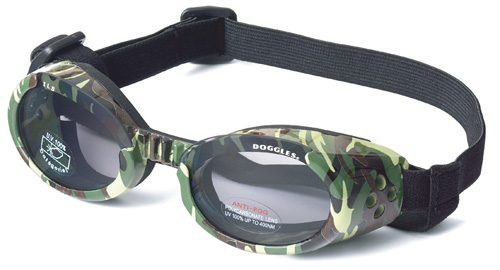 Green Camo ILS Doggles with Light Smoke Lens
