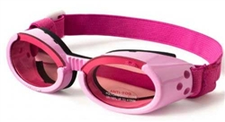 Pink ILS Doggles with Sunset Mirror Lens & Pink Straps