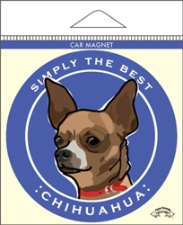 Chihuahua, Brown - Car Magnet