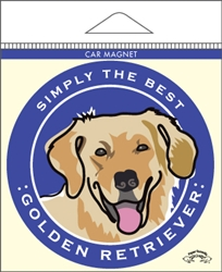 Golden Retriever - Car Magnet