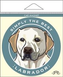 Labrador, Yellow - Car Magnet
