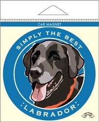 Labrador, Black - Car Magnet