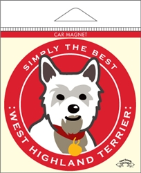 West Highland Terrier - Car Magnet