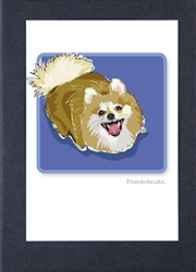 Pomeranian Looking Up - Grrreen Boxed Note Cards