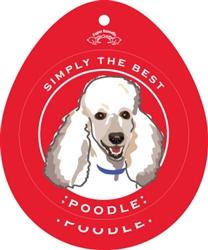 Poodle, White - Sticker