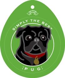 Pug, Black - Sticker