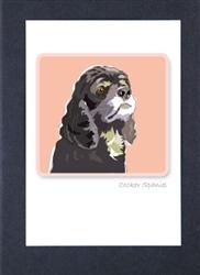 Cocker Spaniel, Black - Grrreen Boxed Note Cards