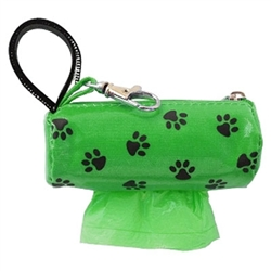 Mini Designer Duffel - Green w/Black Paws w/1 Roll