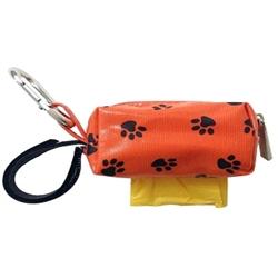Mini Designer Duffel - Orange w/Black Paws w/1 Roll