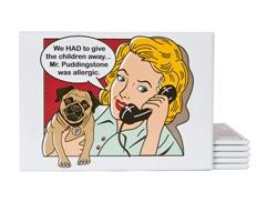 Mr. Puddingstone Pop Art Magnet