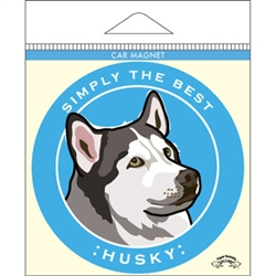 Husky - Car Magnet