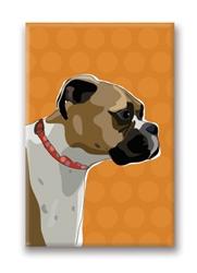 Boxer, Fawn Profile - Fridge Magnet