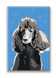 Poodle, Black - Fridge Magnet
