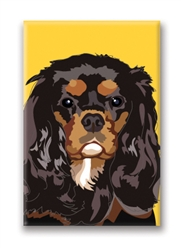 Cavalier, Black & Brown - Fridge Magnet