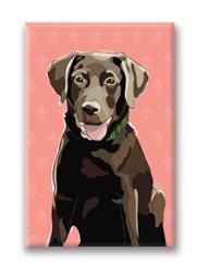 Lab pup, Chocolate - Fridge Magnet
