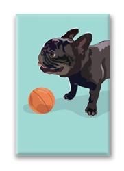 French Bulldog, Black - Fridge Magnet