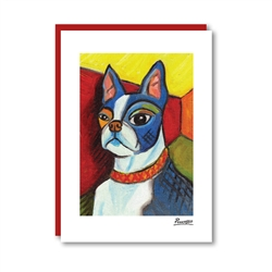 Pawcasso Boston Terrier Note Card