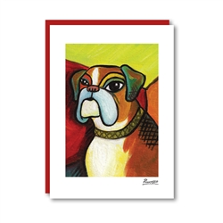 Pawcasso Boxer Note Card