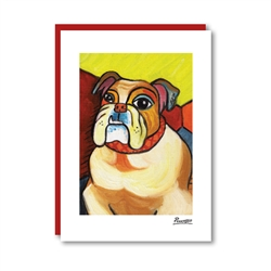 Pawcasso Bulldog Note Card