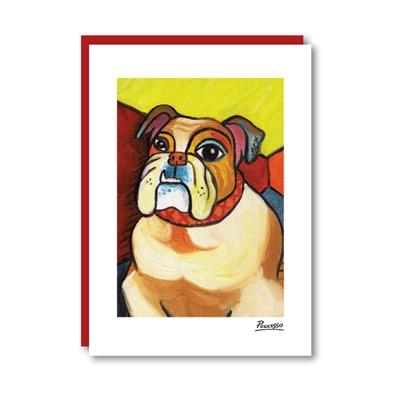 Pawcasso Bulldog Note Card